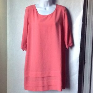 Pink Owl Dress Coral